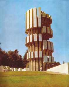 Džamonja, Mrakovica, spomenik na Kozari, školski izleti putevima revolucije Unique Architecture, Concept Architecture, Brutalist Buildings, Socialist Realism, Concrete Structure, Craftsman Style Homes, Aesthetic Design, Googie, Retro Futurism