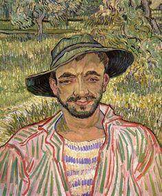 """"""" Portrait of a Young Peasant, Vincent van Gogh 1889 """""""