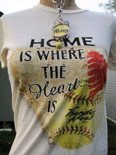 Softball Mom Tee- I'd like it better if it were baseball...
