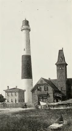Absecon Lighthouse, Atlantic City, NJ, and the U.S. Life Saving Station. Discover more history @ www.thehistorygirl.com