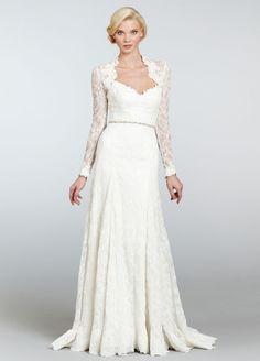 Hayley Paige Long Sleeve Bolero Wedding Dress 6305