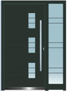 Sternstunden Eingangstüre PLUTO 1 - Aluminiumtüre mit Seitenteil außen grau. Besuchen Sie unseren Schauraum in Gramastetten - dort haben wir einige unserer Haustürmodelle ausgestellt. #Fensterschmidinger #doors #türen #alu #gramastetten #oberösterreich