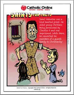 Saints Fun Facts - St. Valentine by Catholic Shopping .com | Catholic Shopping .com FREE Digital Download PDF