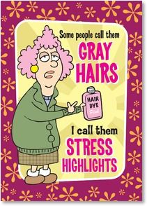 Birthday Card - Have a stress-free birthday, highlighted with fun! | Aunty Acid | 2003853-P | Leanin' Tree