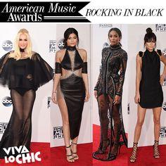 El negro, el mejor acompañante de las celebridades. ¿Qué te parecieron los vestidos? #fashion #dress #redcarpet #amas2015