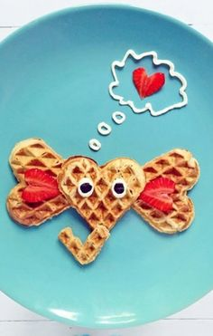 Elephant waffles -- delicious and adorable.