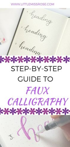 Calligraphy, hand lettering tutorial tips