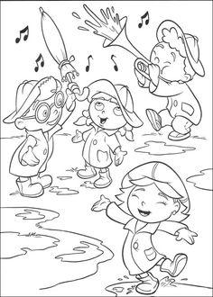 Dibujos para Colorear Mini Einsteins 21