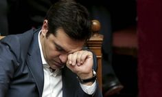 Greek PM Alexis Tsipras after parlliament passed the bailout deal.