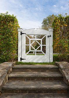Wonderful details on this garden gate by Devore Associates