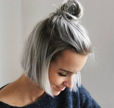 Image result for gray hair styles