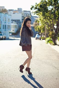 Hazy :: Soyer sweater & Dior boots