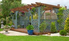 The pergola kits are the easiest and quickest way to build a garden pergola. There are lots of do it yourself pergola kits available to you so that anyone could easily put them together to construct a new structure at their backyard. Deck With Pergola, Outdoor Pergola, Wooden Pergola, Backyard Pergola, Backyard Landscaping, Gazebo, Cheap Pergola, Backyard Ideas, Covered Pergola