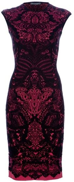 Alexander McQueen Woven Brocade Dress