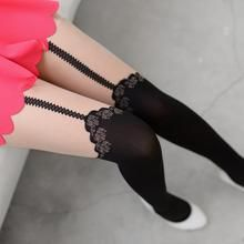 59 Seconds - Rose Print Two-Tone Tights