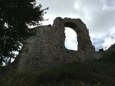 Near Remagen, Germany, the remains of a once stately castle.  All that remain is the former window well where once a heart broken knight spent his remaining days on the nunnery called Nonnenwerth where his beloved took the veil when she thought he was dead from battle.   http://exploringculturesearchinglight.com/2013/09/18/the-rolands-bogen-a-legend-of-a-knight-maiden-and-love/