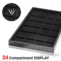 Plastic Tray with Compartment Liner for Body Jewelry Display