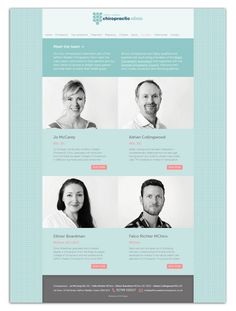 Saffron Walden Chiropractic team page Ui Ux Design, Page Design, Layout Design, Restaurant Website Design, Team Page, Web Themes, Website Layout, Chiropractic, Brochures
