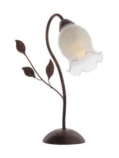 LUISA Redo - stolná rustik lampa - zlato-hnedý kov