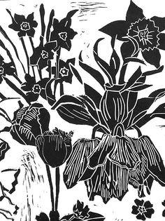 Lyn Berwick: Lino prints