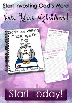 Printable Year-Long Scripture Writing Challenge for Kids {FREE until January 10, 2017} A $15 Value!