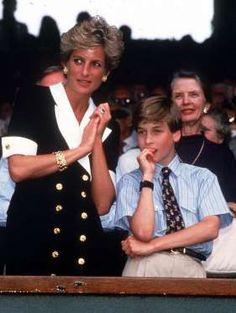 Wimbledon Tennis Ladies Final, London, Britain - 1994 Princess Diana with Prince William - Tim Rooke/REX/Shutterstock