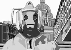 Cyberman from The Invasion  Bamboo Graphics Tablet