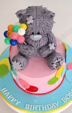 Celebrate with Cake!: Tatty Teddy with Balloons Cake