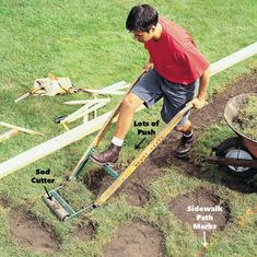 Form and pour a new concrete sidewalk; the perfect first concrete project for the beginner. Replace that cracked walk with a smooth one. Pouring Concrete Slab, How To Lay Concrete, Concrete Pad, Concrete Projects, Concrete Garden, Concrete Blocks, Flagstone Walkway, Concrete Driveways, Backyard Pavers