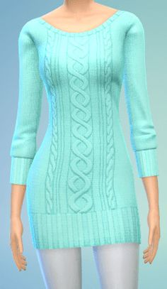 The simsperience: 4 Sweater Dress - Sims 4 Downloads