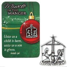 Miracle in the Manger Lapel Pin Card