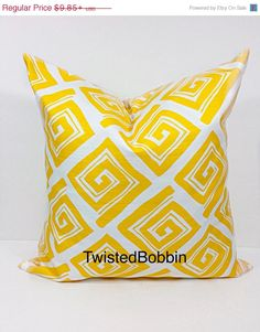 ON SALE Corn yellow.swirl. pillow by TwistedBobbinDesigns on Etsy