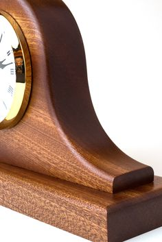 Building a Tambour Clock: Sapele wood tambour mantle clock made by Brian Gaines at Woodcraft, Colorado Springs Mantle Clock, Diy Clock, Wood Clocks, Tambour, Colorado Springs, Woodworking Ideas, Home Crafts, Wood Projects, Christmas Ideas