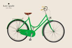 Love at first sight.....Kate Spade kelly green bike....all it needs is a basket