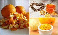 5 ways to use orange peel - Home Remedies 2 U Orange Peels Uses, Peau D'orange, Jus D'orange, Natural Home Remedies, Homemade Beauty, Natural Medicine, Vitamins, Snack Recipes, Chips