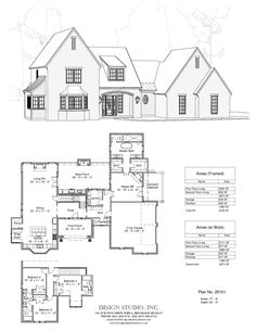 Love this floorplan! Would change exterior to have more farmhouse feel. The Plan, How To Plan, Villas, Design Studio, House Design, Small Luxury Homes, Small Homes, Chief Architect, Luxury House Plans