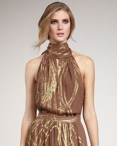 Farrow Halter Blouse, Mocha by Rachel Zoe at Neiman Marcus.  Casual night out? Girls night out? Yes please!