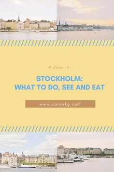 4 days in Stockholm: What to Do, See, and Eat | Stockholm City Guide, Stockholm Travel Guide, Sweden Travel, Stockholm Travel, What to do in Stockholm, Things to do in Stockholm