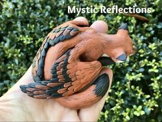 Animal Pal Handmade Ooak Polymerclay Sculpture by Mystic Reflections Polymer Clay Creations, Garden Sculpture, Wings, Outdoor Decor, Handmade, Animals, Hand Made, Animales, Animaux