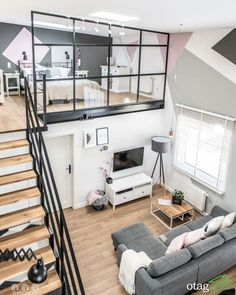 The light loft - Architecture and Home Decor - Bedroom - Bathroom - Kitchen And Living Room Interior Design Decorating Ideas - Bedroom Loft, Bedroom Apartment, Apartment Interior, Cozy Apartment, Mezzanine Bedroom, Mezzanine Floor, Family Apartment, Light Bedroom, Apartment Layout