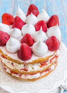 Strawberry Eton Mess Cake by Raspberri Cupcakes #recipe