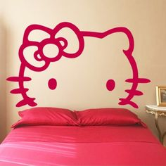 Hello Kitty White - Headboard - Wall Decals Stickers