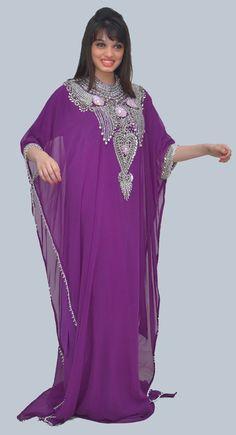 Charming Purple Color Fashionable #Farasha