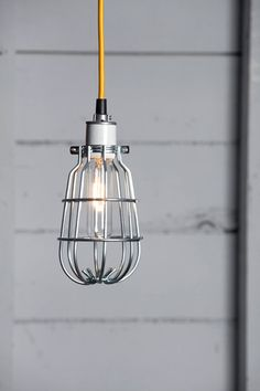 Industrial Cage Pendant Light | Industrial Light Electric hand crafted lighting, made to order, Industrial Modern Lighting, Vintage Industrial Style Lights with a Modern Design