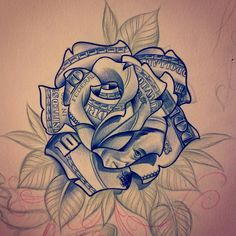 """- This is an oldie but goodie right here- The drew thi… This is an oldie but goodie right here- The drew this one so I wouldn't do the """"other one"""" u know-… Chicano Tattoos, Dope Tattoos, Hand Tattoos, Gangsta Tattoos, Pretty Tattoos, Body Art Tattoos, Sleeve Tattoos, Rose Drawing Tattoo, Tattoo Design Drawings"""