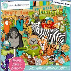 In The Jungle by Digital Gator Designs #PDW #plaindigitalwrapper #scrapbookkit #digital #digitalscrapbook #hybrid #pagekit #digitalgatordesigns