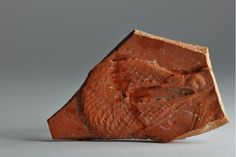 Roman net on african red slip ware sherd with boat, 4th century A.D. Private collection
