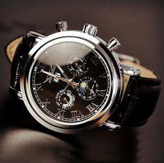 Men's Watch, Vintage Watch, Handmade Watch, Leather Watch, Automatic Mechanical Watch,Fashion Day Night Wrist Watch