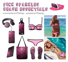 Pink Sparkles Beach Essentials by PLdesign by pldesign on Polyvore featuring Milly, SIGG, pinksparkles, PLdesign and SparklesGift