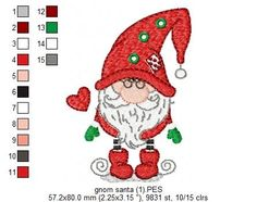 Creative Embroidery, Iron On Patches, Gnomes, Machine Embroidery Designs, Color Change, Needlework, Fill, Applique, Cross Stitch